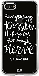 DailyObjects Anything Is Possible White Silicone Clear Case For iPhone 7