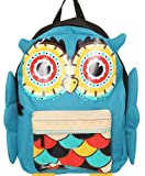 Loungefly Colorful Turquoise Owl Cute Ears Feet & Wings School Backpack