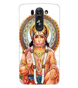 ColourCraft Lord Hanuman Design Back Case Cover for LG D722 K
