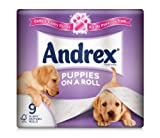 Andrex Puppies on a Roll Toilet Tissue 210 Sheets - 9 x Pack of 5