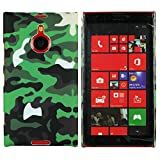 Heartly Army Style Retro Color Armor Hybrid Hard Bumper Back Case Cover For Nokia Lumia 1520 - Army Green
