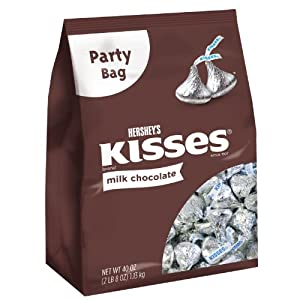 Hershey's Milk Chocolate Kisses Party Bag, 40 oz