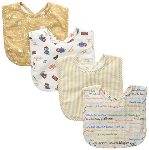 Trend Lab 4 Piece Paddington Bear Bouquet Bib Set