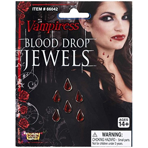 Vampire Goth Emo Blood Drop Adhesive Jewels