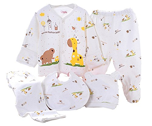 wangsaura-baby-infant-5pcs-cotton-clothing-set-cap-bib-pajamas-suit-pantsnewborn-caring-gift-0-3-mon
