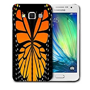 Snoogg Abstract Orange Butterfly Printed Protective Phone Back Case Cover For Samsung Galaxy A3