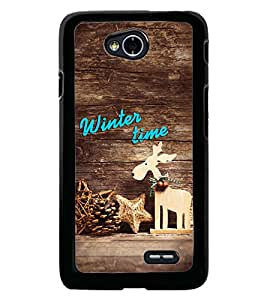 Fuson Premium Winter Time Metal Printed with Hard Plastic Back Case Cover for LG L70