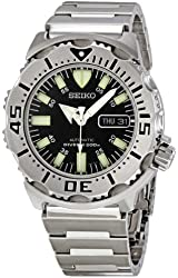 """Seiko Men's SKX779 """"Black Monster"""" Automatic Dive Stainless steel Watch"""