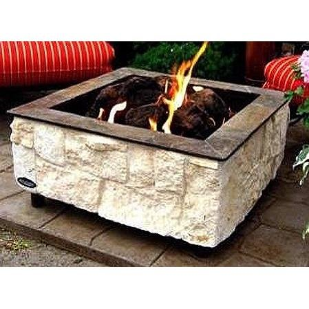 Firescapes Austin Lime Square Propane Fire Pit