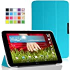 MoKo LG G Pad 10.1 Case - Ultra Slim Lightweight Smart-shell Stand Case for LG G Pad 10.1 inch Android Tablet, Light BLUE