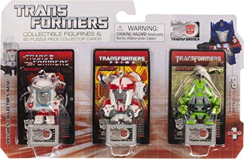 "Ratchet ~1.25"" Mini-Figures (Transformers The Movie, Transformers Prime, G1): Transformers 30th Anniversary Series"