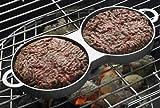 BBQ Hamburger Presse mit Griff für 2 Hamburger mit Antihaftbeschichtung Burgerpresse