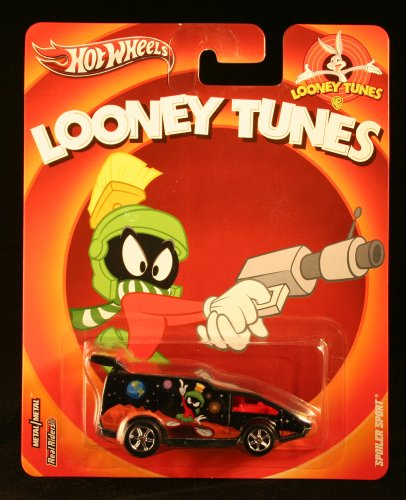 Hot Wheels, Looney Tunes Die-Cast Vehicle, Marvin the Martian Spoiler Sport, 1:64 Scale