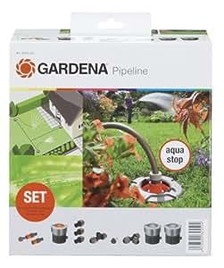 Gardena 8255 20 kit de d part pour conduites d 39 arrosage jardin for Eclairage jardin gardena
