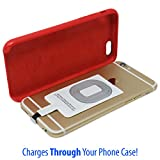Apple Wireless Charging Adapter for Iphone - Receiver Works With iPhone 7 / 7+ / 6s / 6s+ / 6 / 6+/ 5/ 5s /5c Wireless iphone 6s 7 plus iphone 6 wireless charger iphone 6 7 - Works With Any Qi Pad