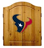 NFL Houston Texans Solid Pine Cabinet And Bristle Dartboard Set