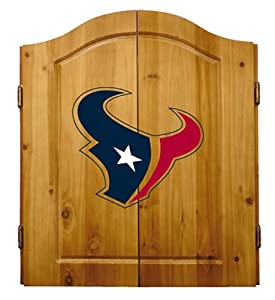 Buy NFL Houston Texans Solid Pine Cabinet And Bristle Dartboard Set by Imperial