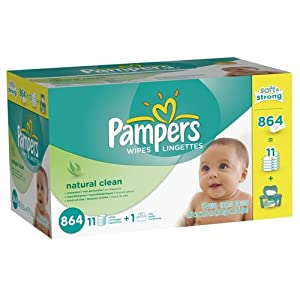 Pampers Natural Clean Wipes 12x Box with Tub (1728 + two tubs)
