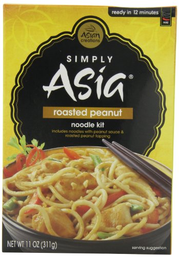 Simply Asia Noodles Roasted Peanut Noodle Kit, 11-Ounce Containers (Pack Of 6)