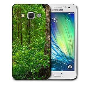 Snoogg Green Garden Printed Protective Phone Back Case Cover For Samsung Galaxy A3