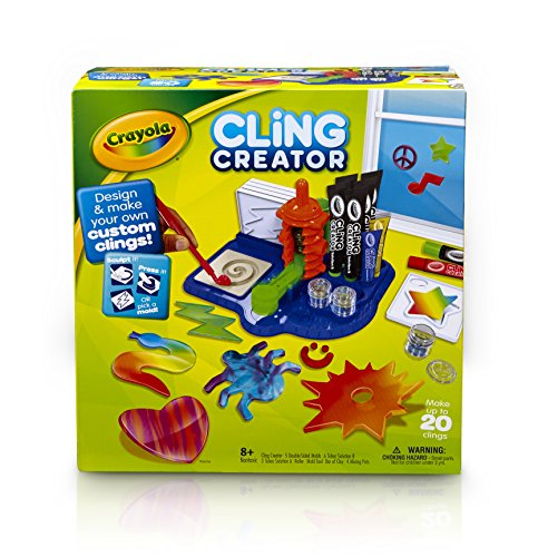 Crayola, Cling Creator, Art Activity, Make up to 20 Customized Clings, Easy Color Mixing, Sticks on Windows, Mirrors and Flat Surfaces (Marker Maker From Crayola compare prices)