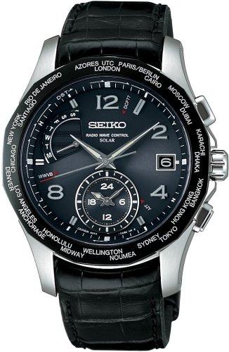 SEIKO (セイコー) 腕時計 BRIGHTZ ブライツ ワールドタイムソーラー電波時計 SAGA011 メンズ