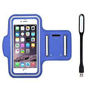 New Hot (4.3) Arm Band Workout Cover Sport Gym Case For Gionee Pioneer P3 With USB Led Light