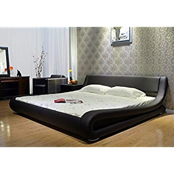 Limited Time SALE with Extra Discount: Greatime B1070 Eastern King Dark Brown Comtemparay Upholstered Bed
