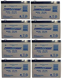 Power-Sonic - Powerstar Replacement Battery for APC BK500MC 12V 9AH - 8 Pack - PS-1290MP839