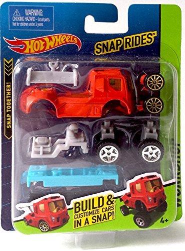 Snap Rides Team Hot Wheels RED Truck Custom Car Set - Create Build & Race - 1