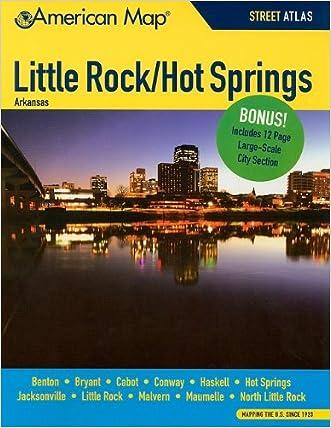 Little Rock / Hot Springs AR Atlas (American Map)