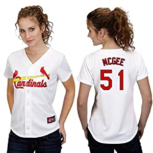 Willie Mcgee St Louis Cardinals Home Ladies Replica Jersey by Majestic by Majestic