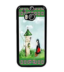 PrintDhaba Cartoon D-2489 Back Case Cover for HTC ONE M8 (Multi-Coloured)