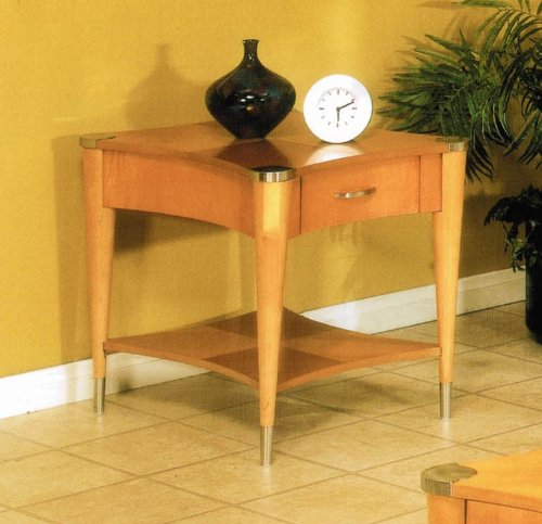 Cheap End Table with Tapered Legs in Pine Finish (VF_AP-62-02)