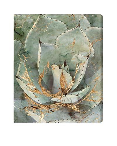 Oliver Gal 'Golden Succulent' Canvas Art