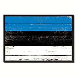 Estonia National Shabby Chic Flag Art Canvas Print Wall Home Décor Interior Design Souvenir Gift Ideas