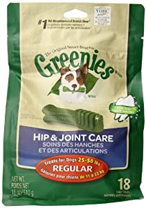 Greenies 18-Ounce Hip and Joint Care Dental Chew, Regular