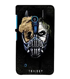 MONSTER FACE SHOWING DOUBLE PERSONALITY 3D Hard Polycarbonate Designer Back Case Cover for Nokia Lumia 530 :: Microsoft Lumia 530