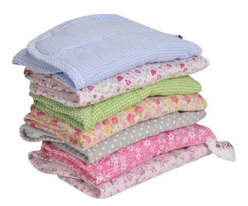 Minene Pushchair Liner And Strap Set (pink/ White Flowers) By Minene Uk Ltd