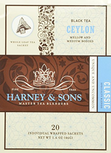 Harney And Sons Ceylon Tea, 20 Count (Pack Of 6)