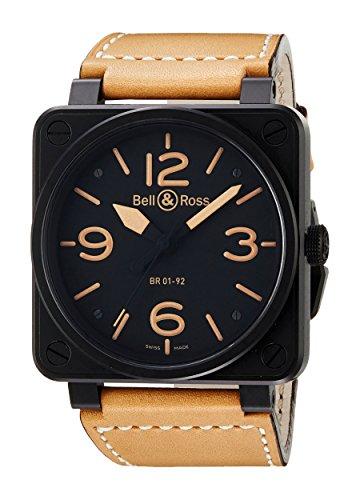 Bell and Ross BR01-92-HERITAGE - Reloj de pulsera hombre, piel