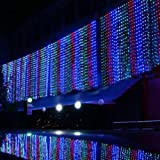 KAPATA Bright 33ft 10m X 3m 1000led Led Outdoor Party Christmas Xmas Fairy Lights String Lamps Wedding Curtain Light Flashing Decoration + US Plug - Multi-colors