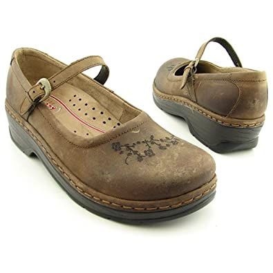 KLOGS Tampa Brown Clogs Mules Shoes Womens Size 7.5