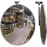"""#1 Industrial Rated 26"""" Dia. Acrylic Indoor/Outdoor Safety & Security Convex Mirror Made in the USA"""