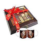 Chocholik Belgium Chocolate Gifts - Assortment Of Exotic Chocolates With Diwali Special Coffee Mugs - Diwali Gifts