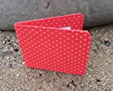 Small Red Dotty Travel Card / Oyster Card Holder