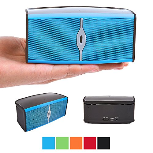Bluetooth Speaker - Alpatronix AX400 Portable Bluetooth Speaker / Bluetooth 4.0 Wireless Speaker with Built-In Mic, Subwoofer & Speakerphone / Compatible with IPhone 6+ / 6 / 5S / 5 / 4S / 4 Smartphone and Tablets / Ideal as Computer Speakers and Good Substitute for other Audio Speakers - Blue