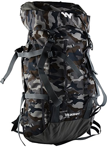 Wildcraft 50 Ltrs Grey Rucksack (Trailblazer Print Camo 2_Grey)