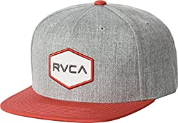 RVCA Men\'s Commonwealth Ii Snapback Hat, Athletic/Red, One Size