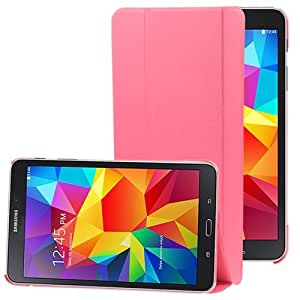 3-folding Litchi Texture Flip Leather Case with Holder for Samsung Galaxy Tab 4 8.0 / T330 (Pink)